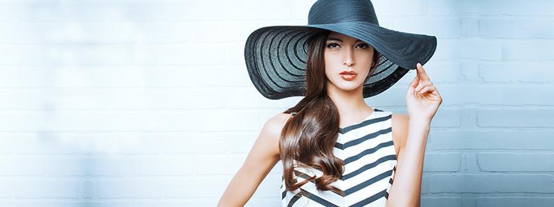 ウェーブタイプに似合う帽子