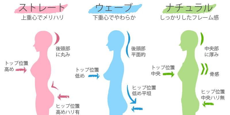 骨格タイプの特徴比較