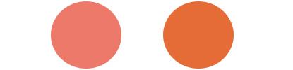 オータムタイプに似合うチークカラーサンプル