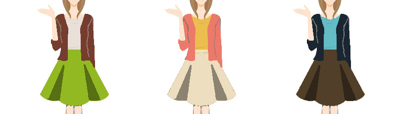 オータムタイプに似合うファッションサンプル