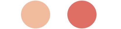 サマータイプに似合うチークカラーサンプル